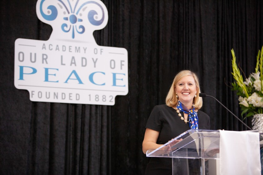 Lauren Lek, a Carmel Valley resident and head of school at the Academy of Our Lady of Peace.