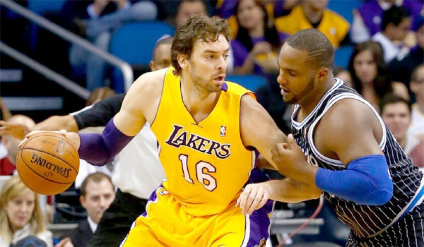 Trade talks between the Lakers and Suns regarding Pau Gasol (16) broke down because Phoenix felt L.A. was asking for too much for the veteran, according to a source.