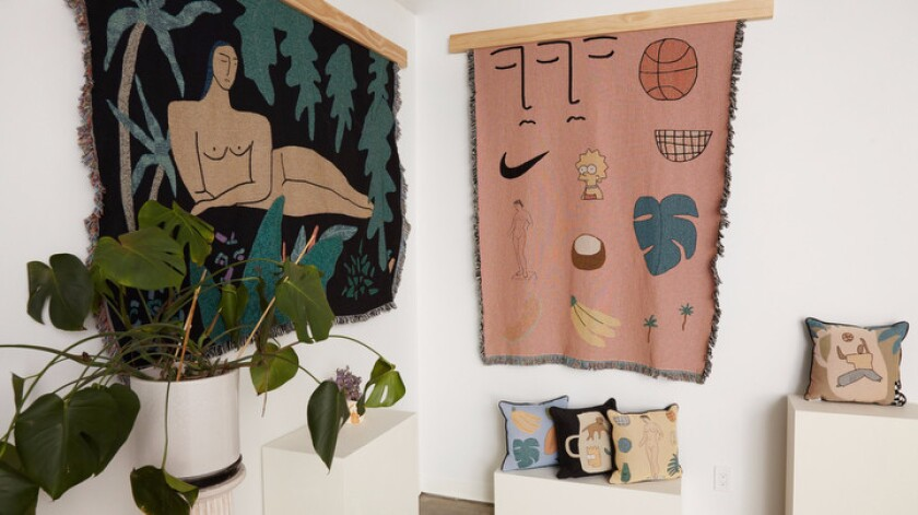 Here's a closer look at the artist's studio.