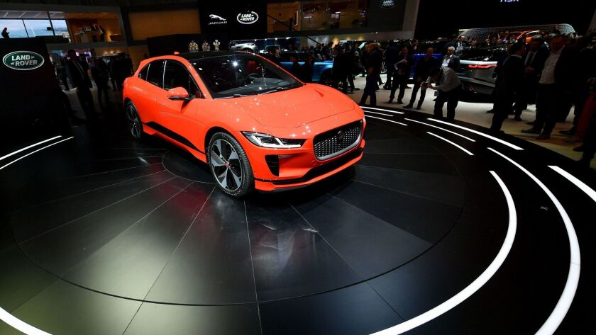 Jaguar expects its new I-Pace all-electric crossover to go on sale in the U.S. in the second half of 2018.