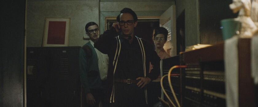 "Jake Horowitz in the movie ""The Vast of Night."""