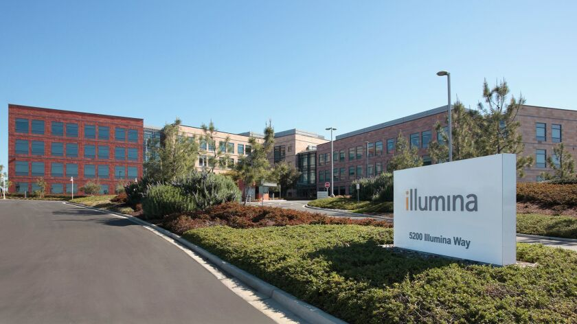 Illumina is headquartered in San Diego.
