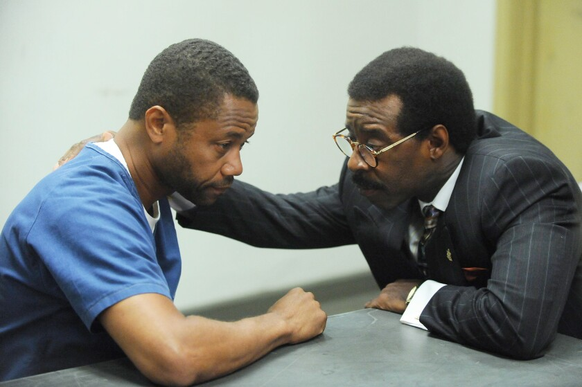 """Cuba Gooding Jr., left, and Courtney B. Vance star in """"American Crime Story: The People v. O.J. Simpson,"""" one of the FX shows up for Emmy consideration."""