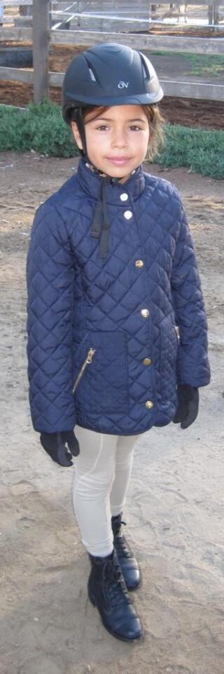 Giselle Enciso (8-year-old student enrolled at Valenti Equestrian Club)