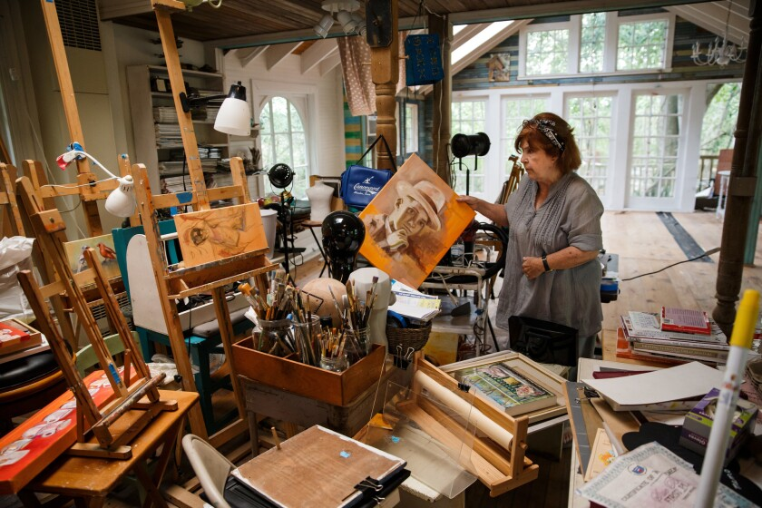 Artists' retreat on the Dickinson Bayou