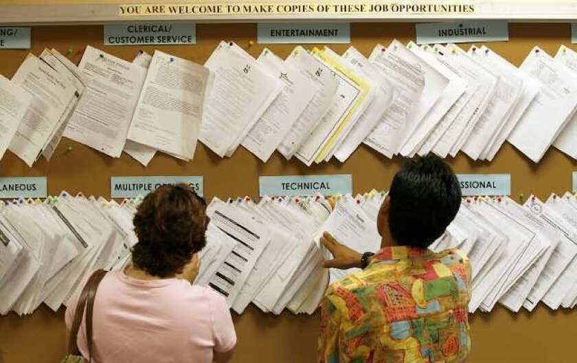 Jobless rates in Burbank, Glendale edge up even as state's goes down