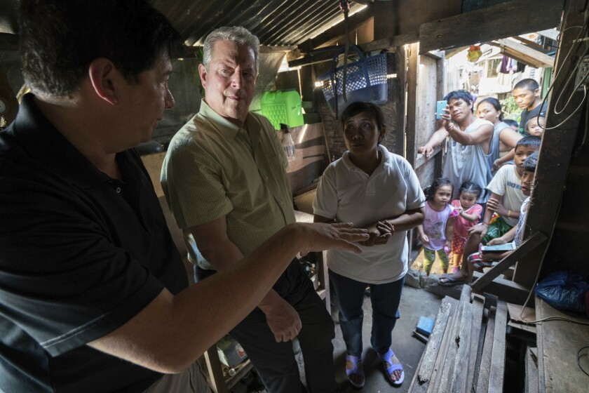 "Al Gore in a scene from ""An Inconvenient Sequel"""