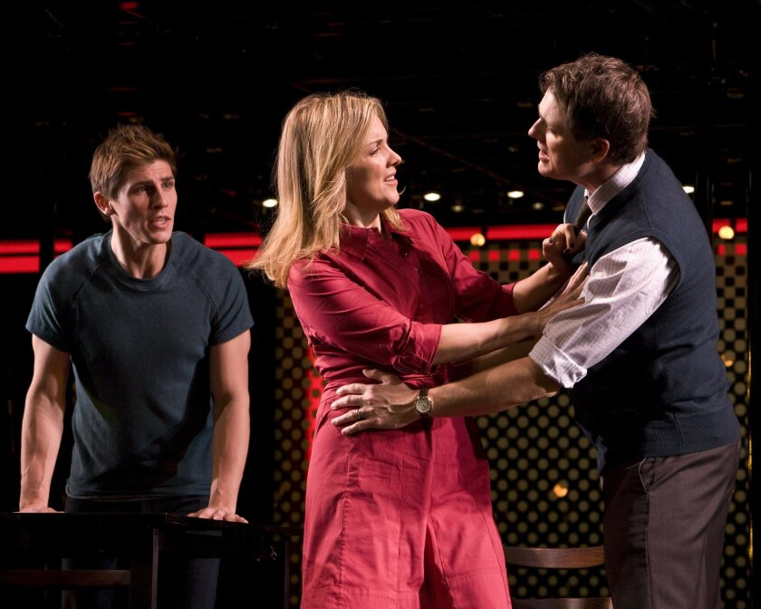"""Alice Ripley (with Curt Hansen, left, and Asa Somers) stars in the Tony- and Pulitzer-winning musical """"Next to Normal."""""""
