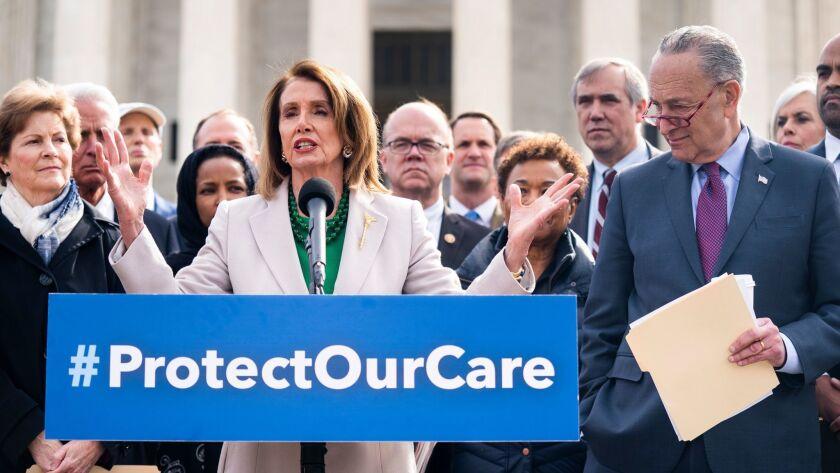 Schumer, Pelosi call on Trump to keep Obamacare, Washington, USA - 02 Apr 2019