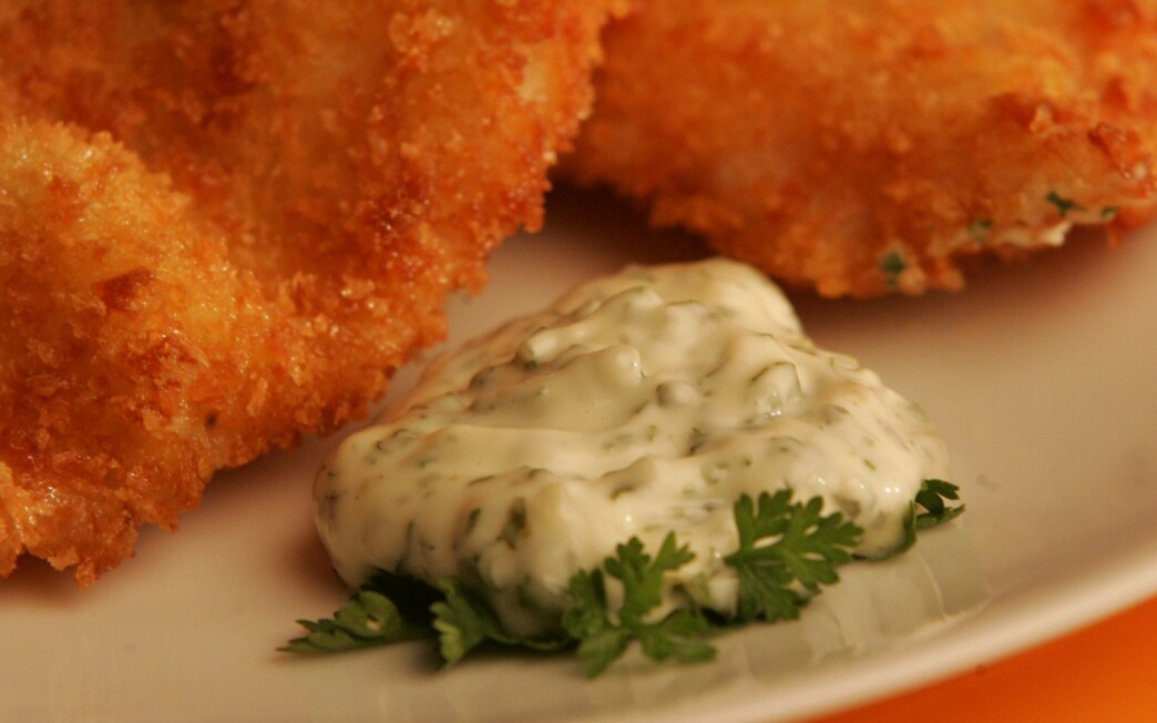 Crispy fish with fines herbes ravigote