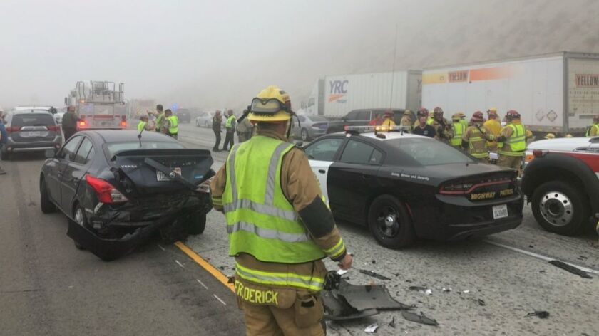 Heavy fog triggers chain-reaction pileup of up to 30 cars in