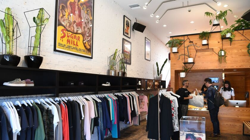 A look inside L.A. menswear boutique Union shows that highbrow European brands are placed next to ma