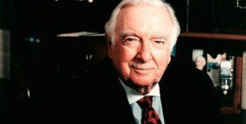 The late CBS anchorman, Walter Cronkite (1916-2009)