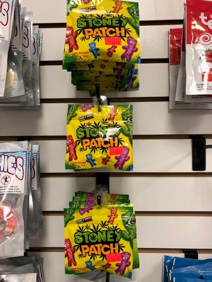 Cannabis products were packaged like child's candy, police said.