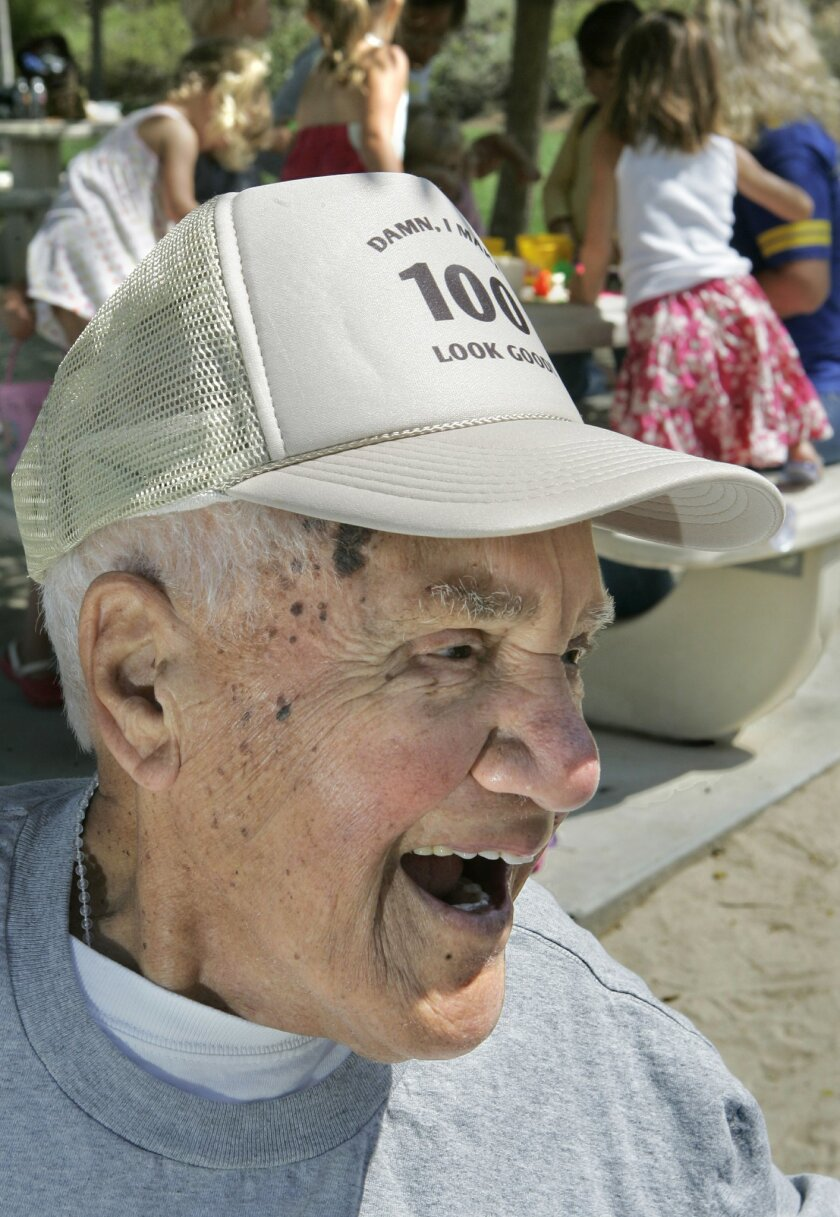 <p>  When asked why he likes going to the Questhaven Park so often, Tony Cardarella laughed and said it's because of the women he knows there.  <em>   &#8201; Charlie Neuman / Union-Tribune  </em> </p>
