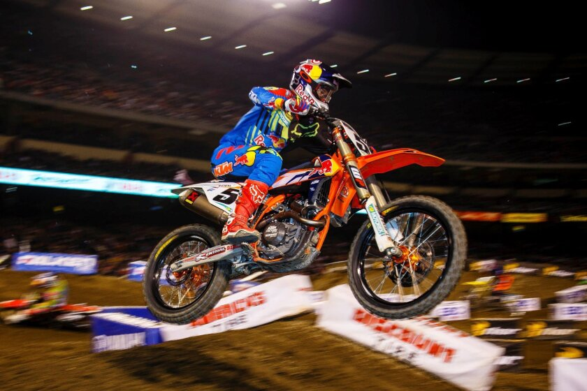 Ryan Dungey of Tallahassee, Fla., is the points leader in the 450cc class.