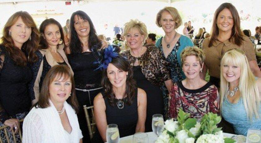 Front: Joani Wafer, Carol Bader, Eve Blackwood, Lisa Sullivan. Back: Iris Eckstein, Jacqueline Love, Maggie Bobileff, Judy Ferrero, Cindy Furlong, Lisa Alvarez
