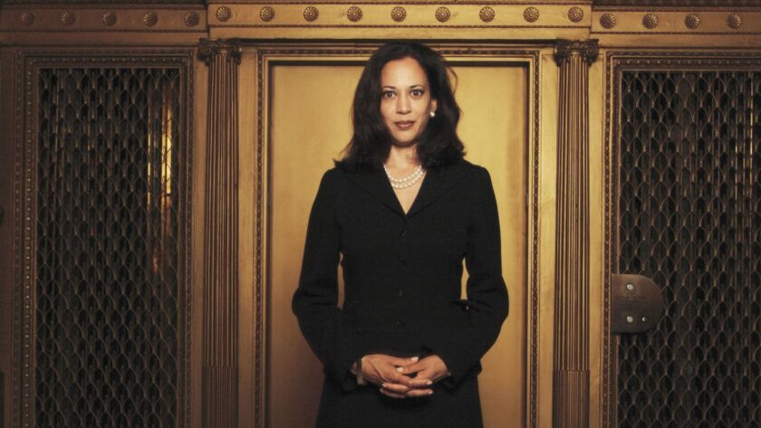 San Francisco's new district attorney Kamala Harris in 2004.