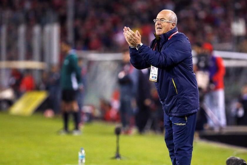 En la imagen, el entrenador de selecciones juveniles de Ecuador, Jorge Célico. EFE/Archivo