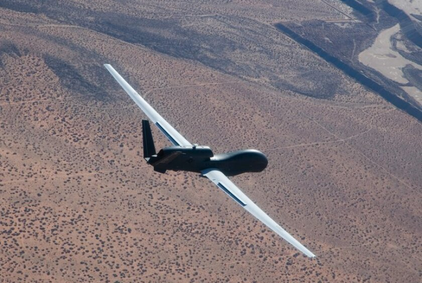 Northrop's RQ-4 Global Hawk, which can reach altitudes of at least 65,000 feet, is widely used for surveillance, reconnaissance and intelligence gathering. The drone was largely designed in Rancho Bernardo.