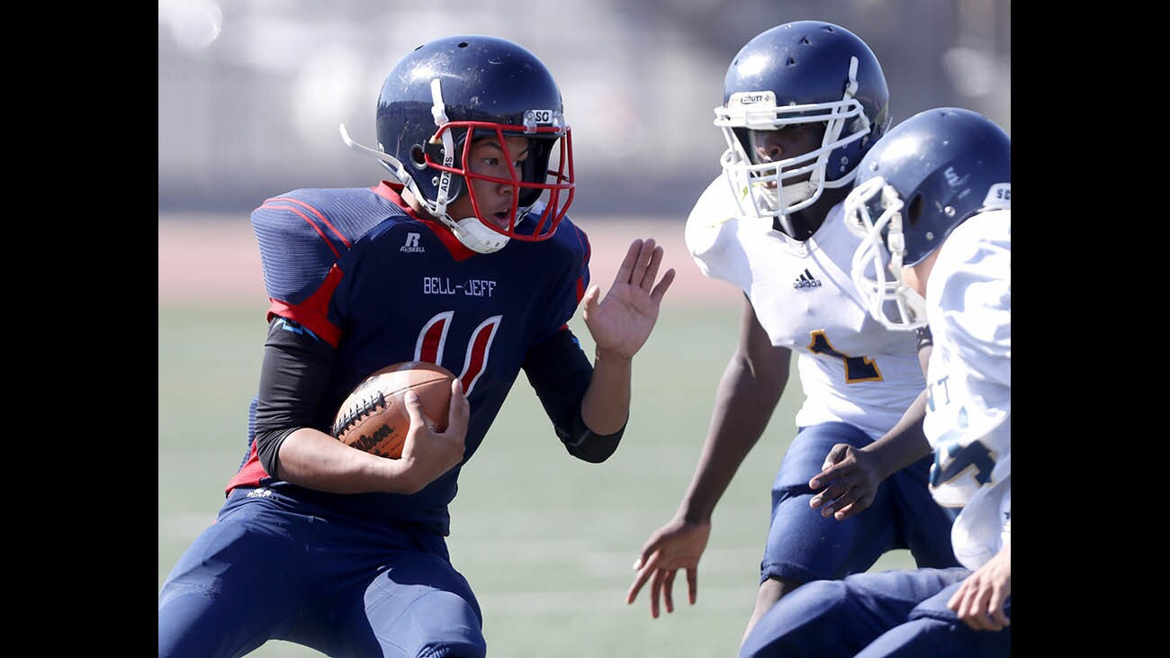 Photo Gallery: Bell Jeff High School football in home game vs. Lighthouse Christian School