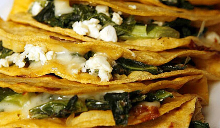 Get creative -- the very versatile quesadilla can be exotic or down to earth.