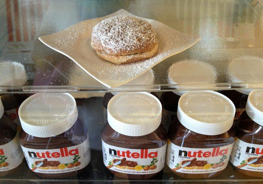 Nutella heaven at Bus Stop Gelato.