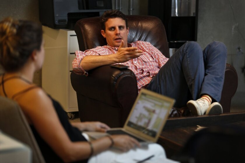 Dollar Shave Club founder Mike Dubin at the company's headquarters in Marina del Rey.