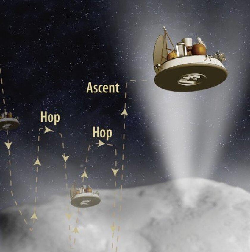 The Comet Hopper spacecraft.