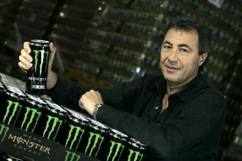 Monster Beverage Chairman Rodney Sacks at the company's warehouse in Corona.