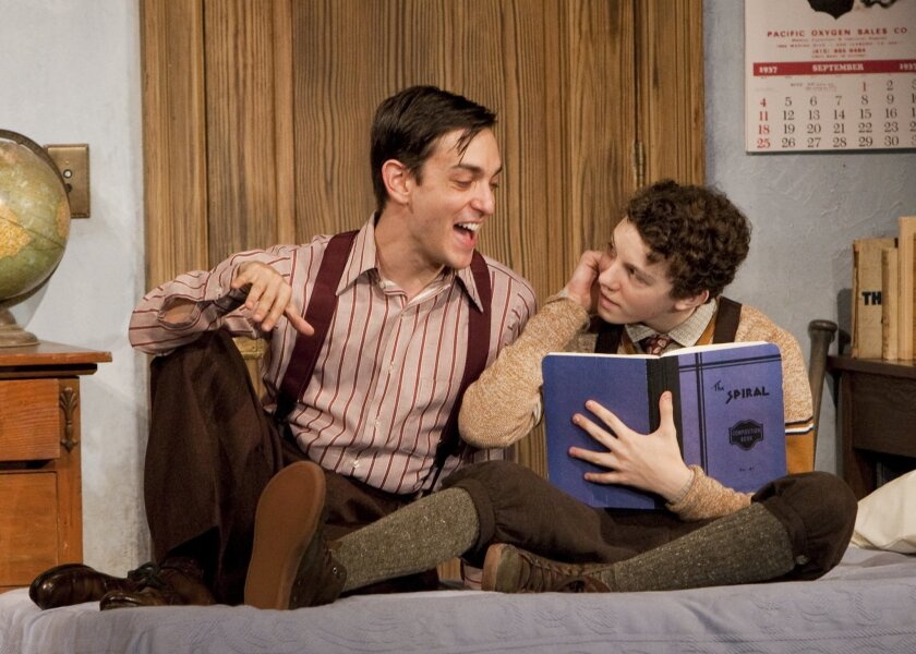"Sloan Grenz and Austyn Myers in ""Brighton Beach Memoirs."""