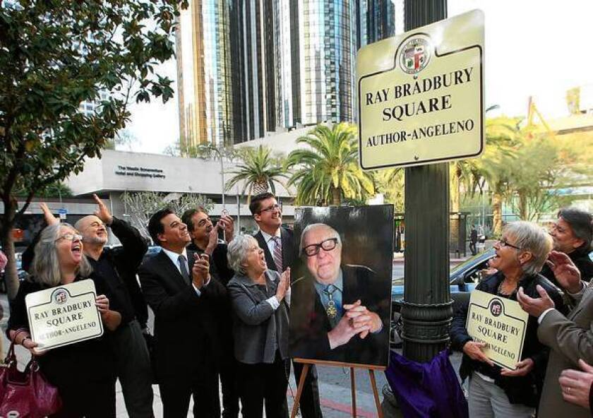 Intersection near L.A. library named for Ray Bradbury