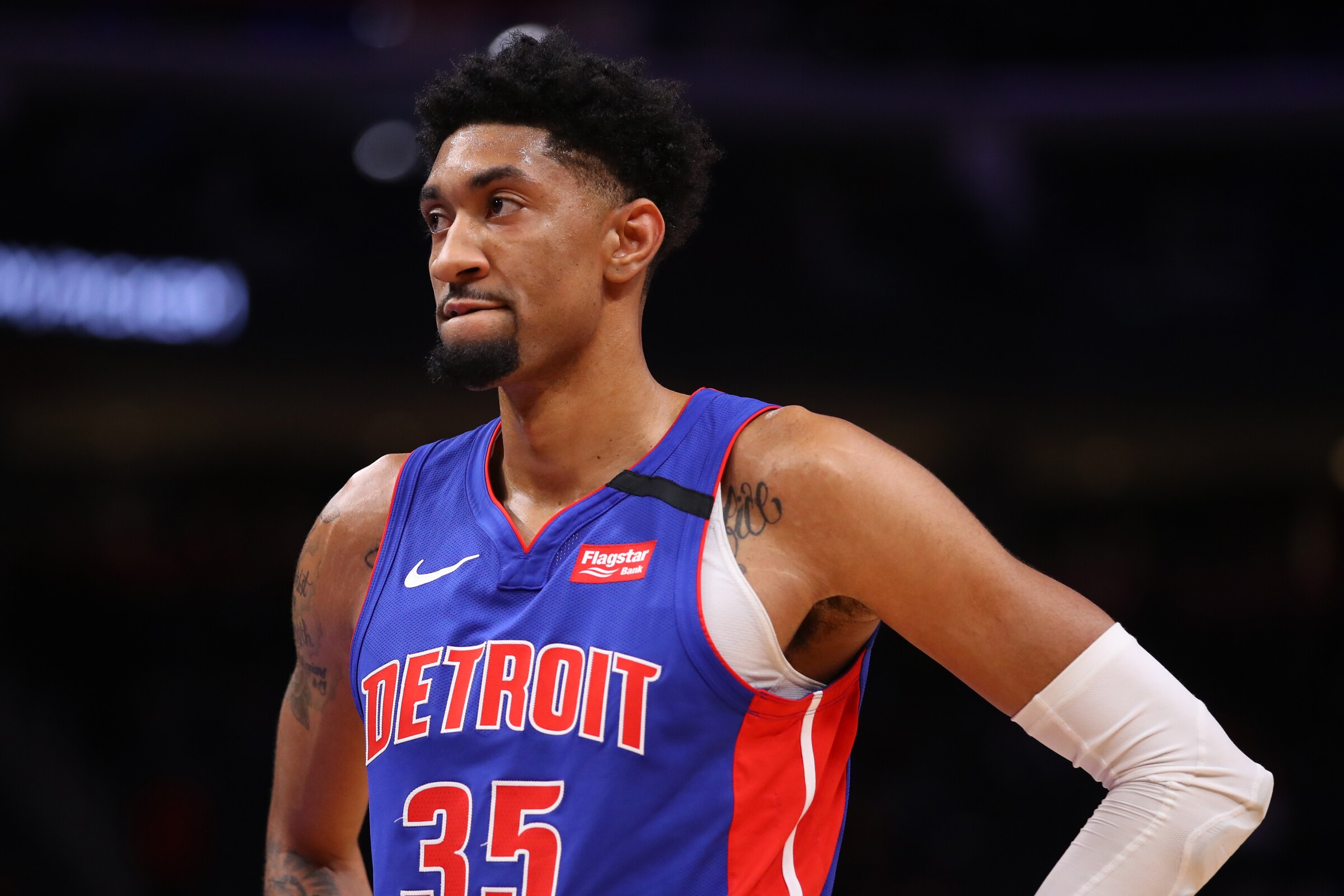 Detroit Pistons forward Christian Wood is among the athletes from around the world who have tested positive for the coronavirus.