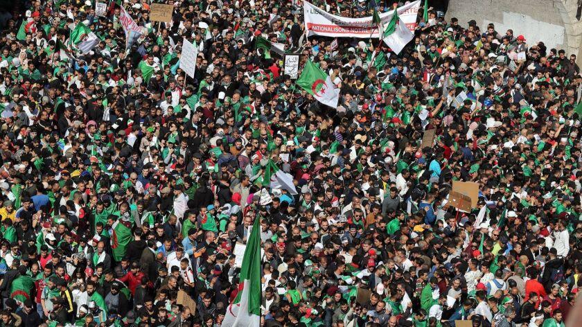Algerians protest against Bouteflika, Algiers, Algeria - 29 Mar 2019