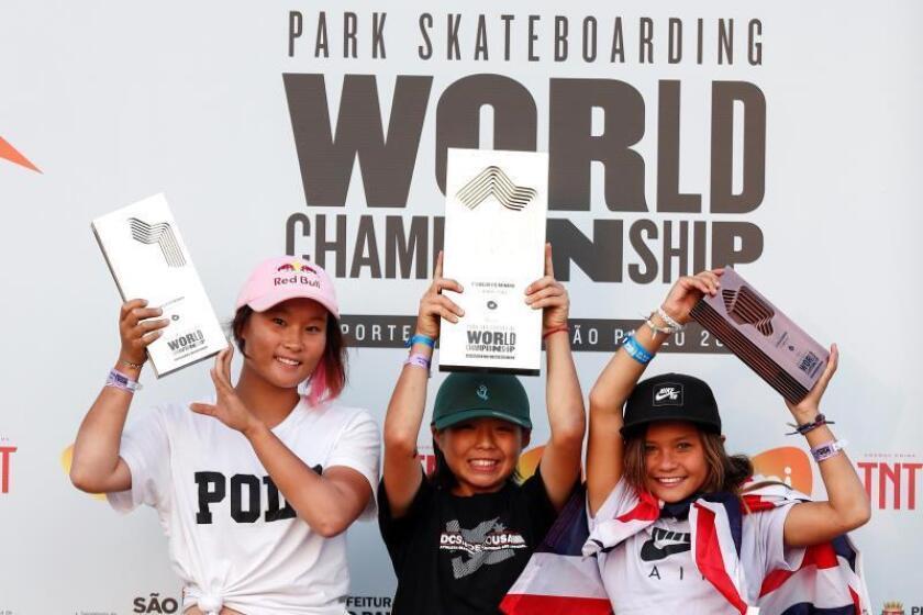 La japonesa Misugu Okamoto, campeona mundial de Skate Park con 13 años