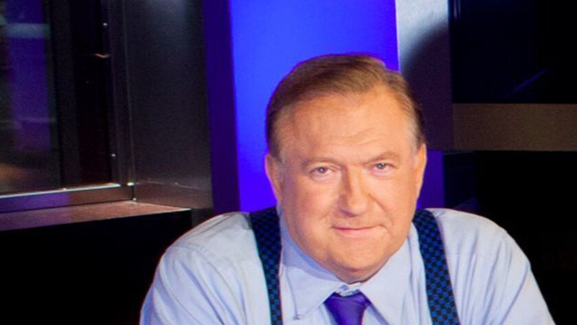"""Bob Beckel following a taping of Fox News' """"The Five"""" in New York in 2013."""
