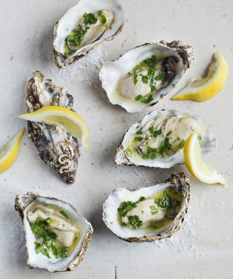"""Hot-buttered oysters from """"30 Years at Ballymaloe."""""""