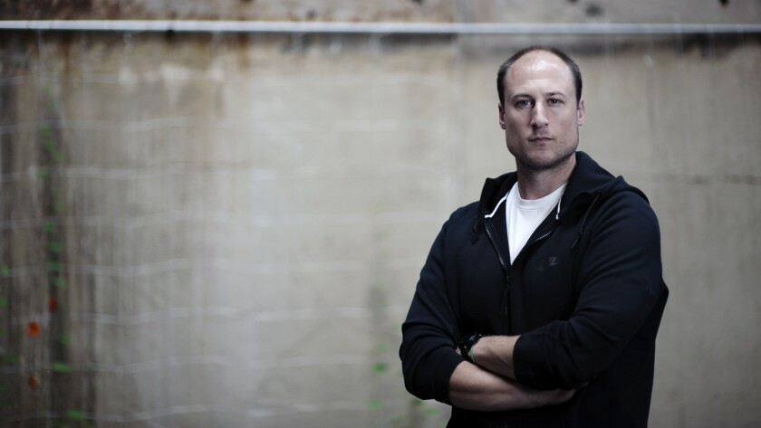 Chef Dave Beran is seen at his home in Los Angeles. He is opening a restaurant at the Third Street Promenade in Santa Monica this summer.