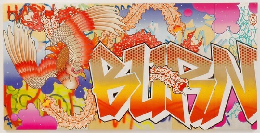 LEFT OUT: You won't see East L.A.'s Gajin Fujita -- whose distinctive work mingles graffiti and traditional Japanese artistry -- on view at the MOCA exhibition.