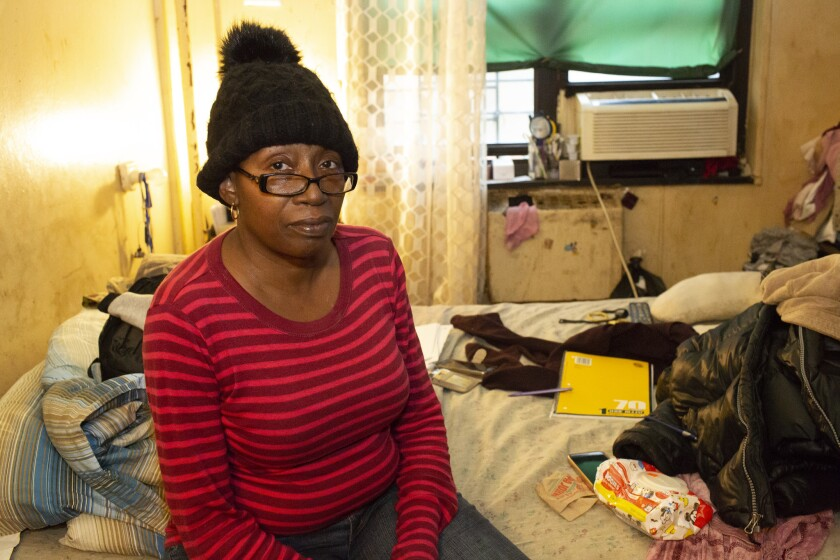 Jacqueline Davis, of the Jefferson Houses in Manhattan, is one of the tenants suing NYCHA for the conditions they are forced to live in.
