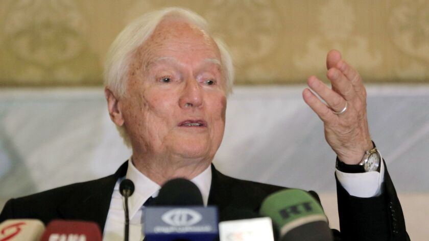 Idriss Jazairy in Damascus, Syria - 17 May 2018
