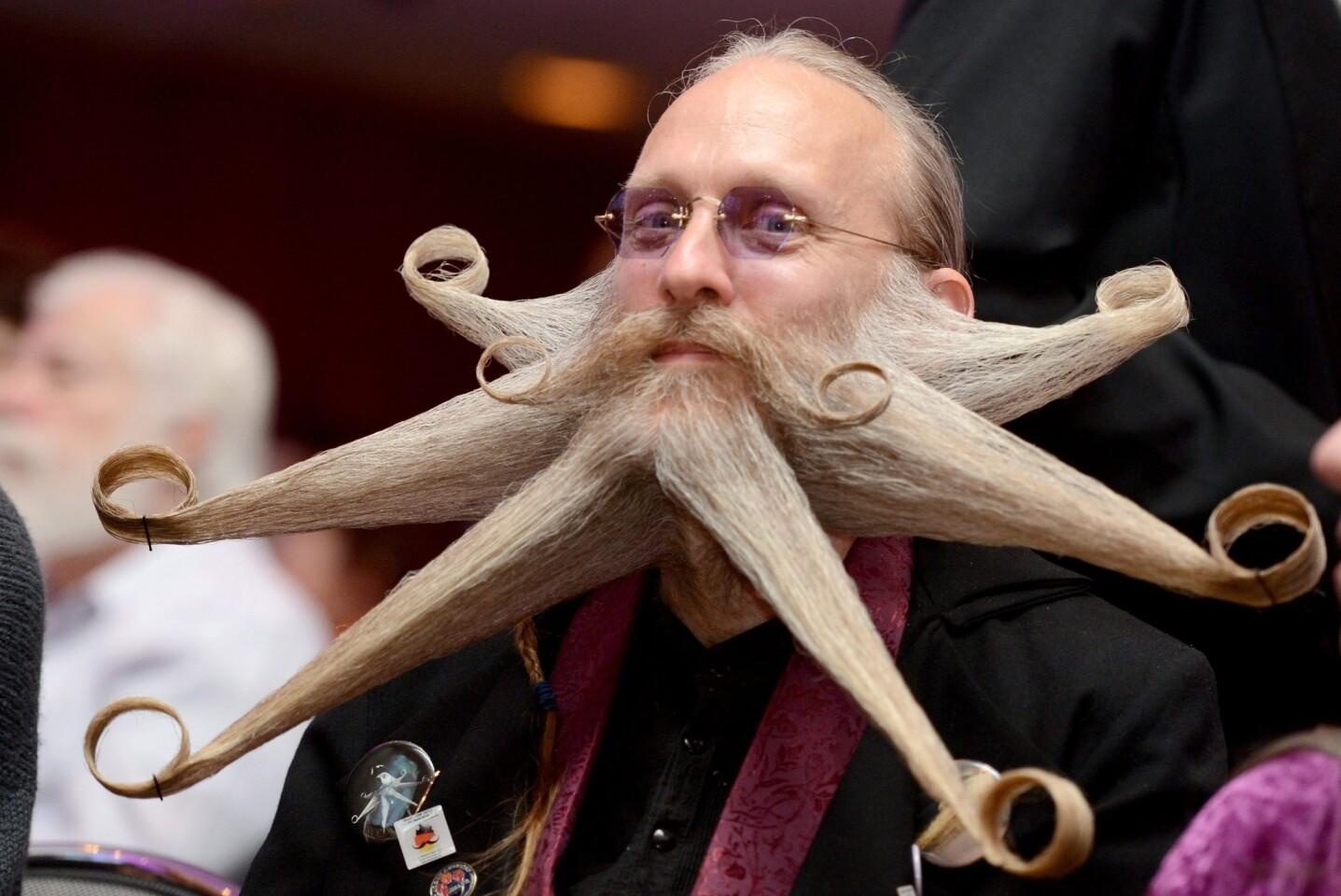 Armin Bielefeldt's curled beard tips won over judges and landed Bielenfeldt in first place for full beard freestyle.