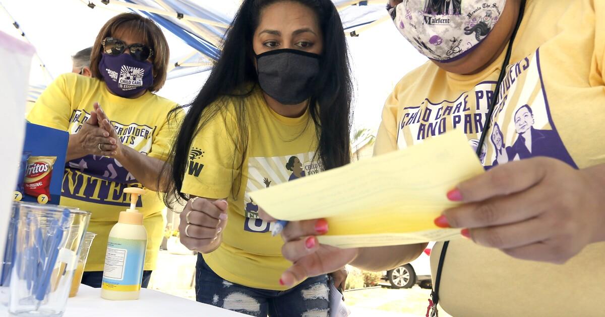 Union vote highlights coronavirus crisis for California's home day care providers