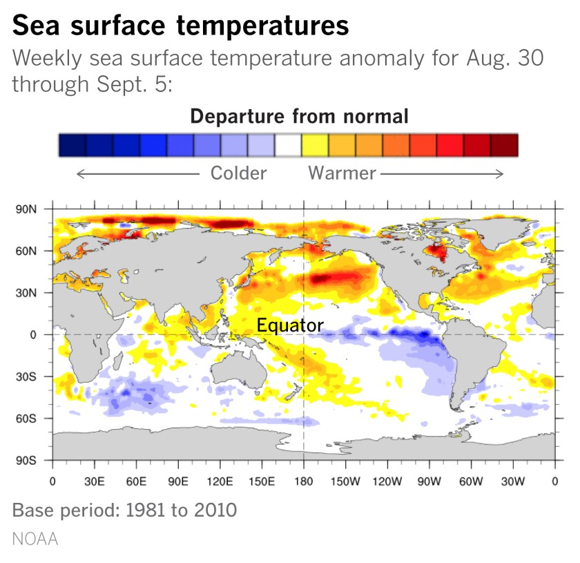 La Niña conditions have been building throughout the summer.
