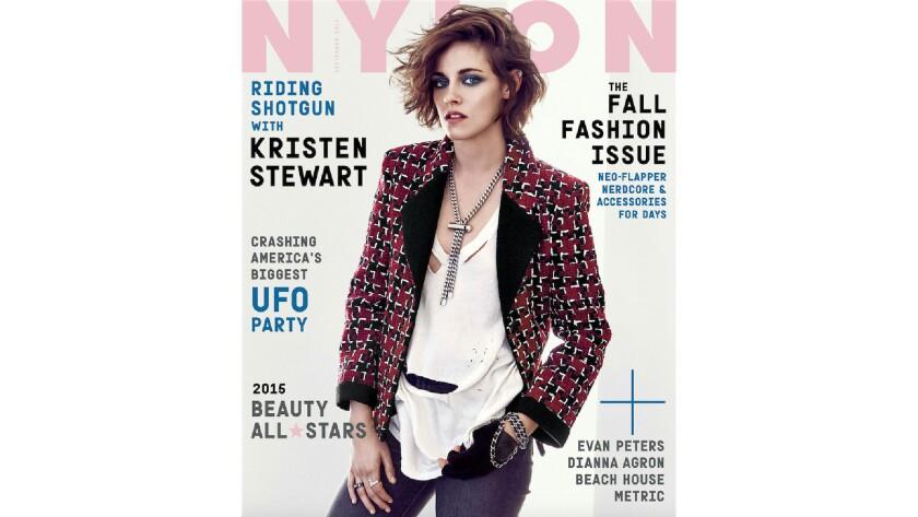 Kristen Stewart is Nylon magazine's September 2015 cover star.