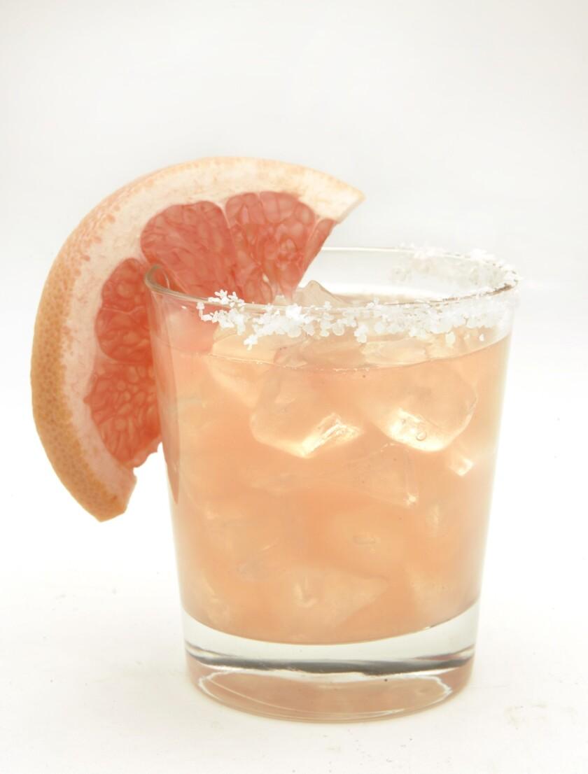 Grapefruit margarita. Click here for the recipe.