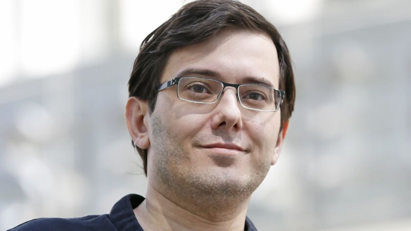 Martin Shkreli, shown in 2017, is serving a seven-year prison term for securities fraud.