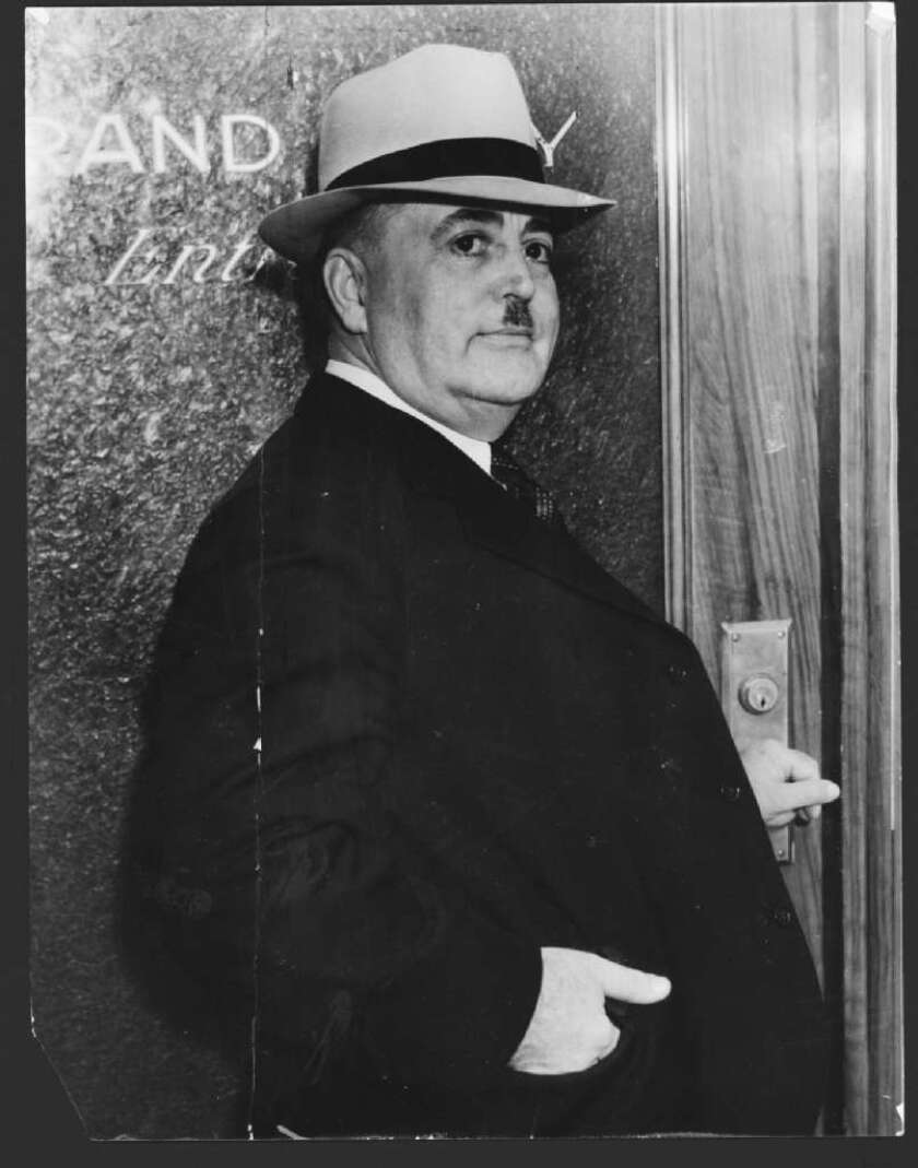 L.A. Mayor Frank Shaw, who served from 1933 to 1938, was recalled by voters disgusted by rampant corruption in the city.