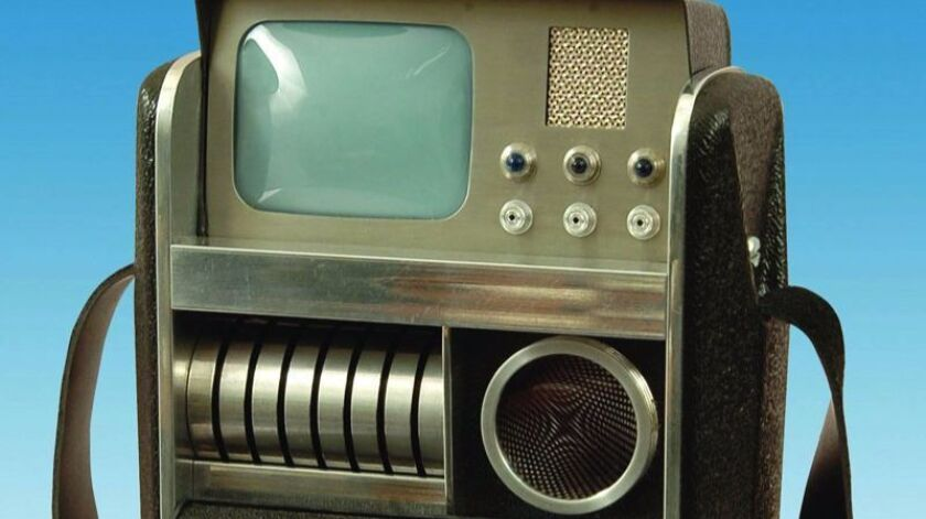 A fictional tricorder from the Star Trek TV series
