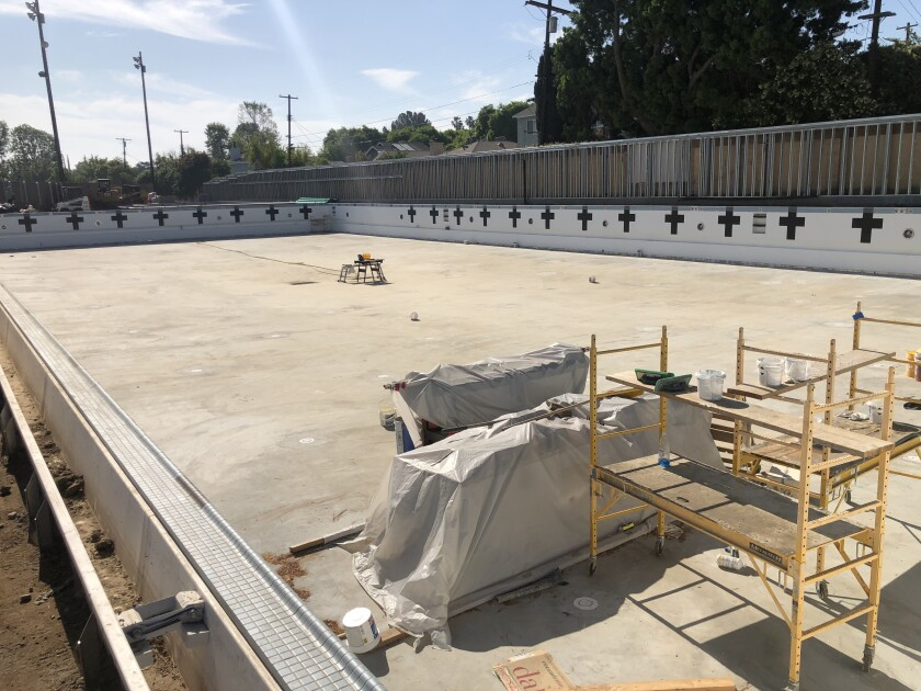 Crespi's new aquatics center featuring a 50-meter Myrtha pool is scheduled to open in August.